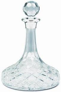 Silver and Cut Glass Decanter