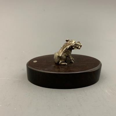 PATRICK MAVROS Silver PLACE CARD HOLDER - WARTHOG