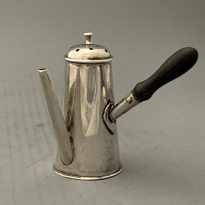 VICTORIAN Silver COFFEE POT PEPPER POT 1897
