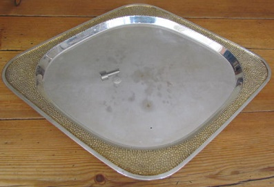 Pair Large Silver Serving Platters