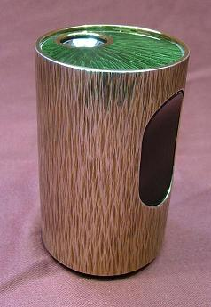 Green Enamelled Silver Table Lighter