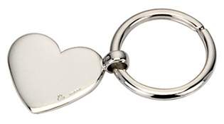 Silver Heart Key Ring