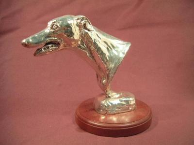 Silver Mounted Greyhound Head