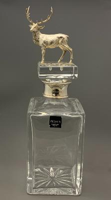Silver Mounted STAG WHISKY DECANTER