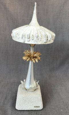 CHRISTOPHER LAWRENCE Large Silver 'Chinese Checkers' Mushroom