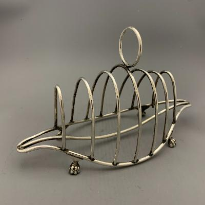 VICTORIAN Silver TOAST RACK 1897