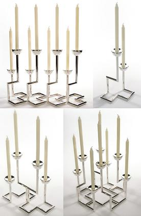 "Silver ""Manhattan"" Candlesticks"