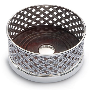 Silver Basket Wine Coaster