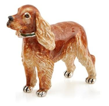Silver and Enamel Spaniel