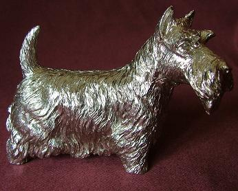 Silver Scottie Dog