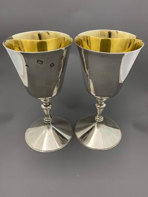 Pair Silver GOBLETS