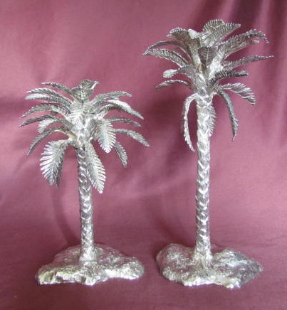 Silver Date Palm Candlestick