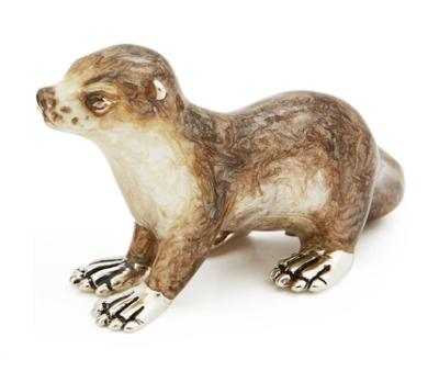Silver and Enamel Otter