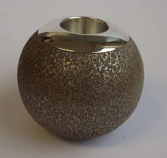 Stone Ceramic Salt Glaze and Silver Matchstrike
