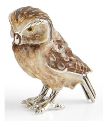 Silver and Enamel Tawny Owl