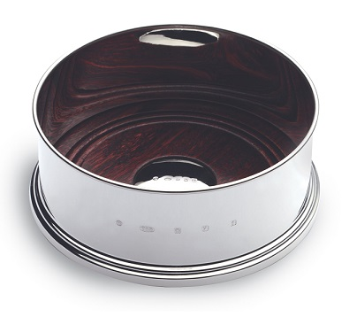 Large Silver Wine Coaster