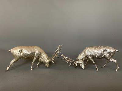 Silver STAGS RUTTING
