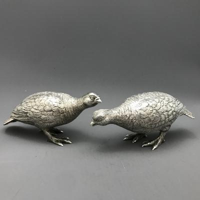 Pair Silver GROUSE