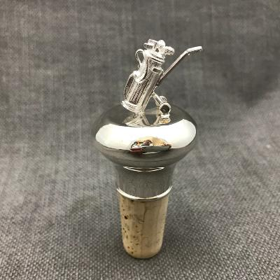 Silver Golf Caddy Bottle Stopper