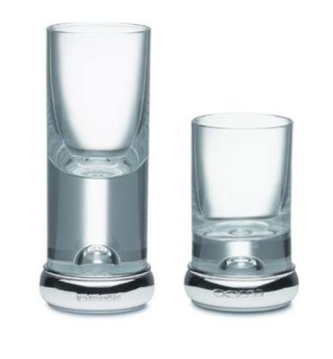 Silver and Glass Shot Glasses