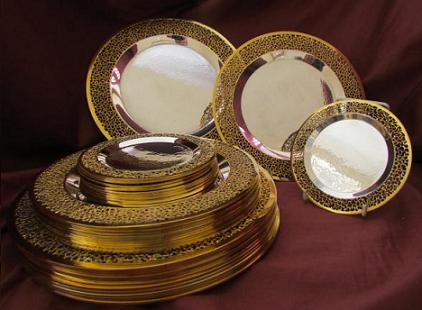 Suite of 36 Silver Plates