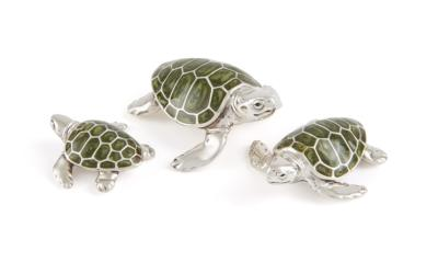 Saturno Silver and Enamel Turtle