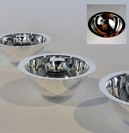 "Contemporary Design Silver ""Illusion"" Bowl"