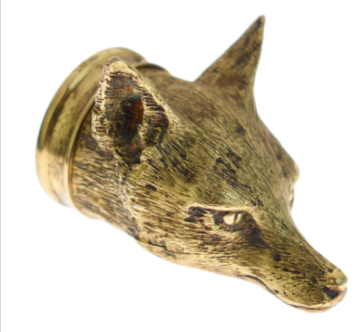AURUM Silver 'FOX HEAD' Stirrup Cup