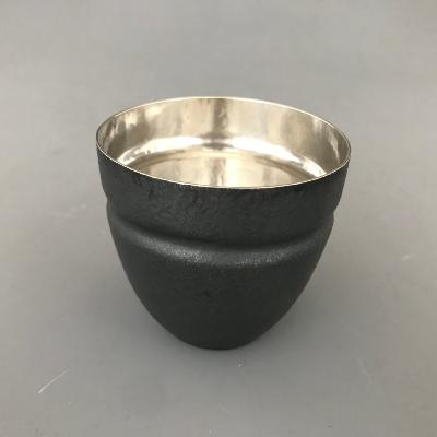 ADRIAN HOPE Small Oxidised Silver Beaker