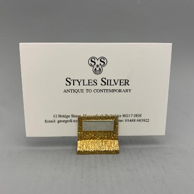 CHRISTOPHER LAWRENCE  Silver MENU - PLACE CARD HOLDER