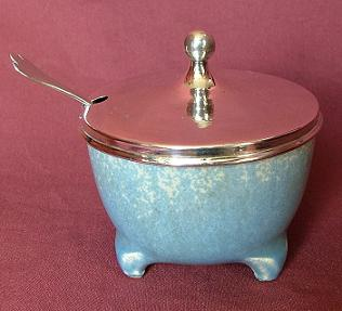 Silver and Ruskin Pottery Jar