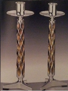 ANTHONY ELSON Silver Candlesticks