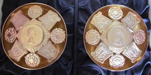 CHRISTOPHER LAWRENCE Pair Silver Rose Bowls