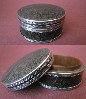 Silver and Shagreen Box
