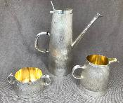 GERALD BENNEY Silver 3 Piece Coffee Set