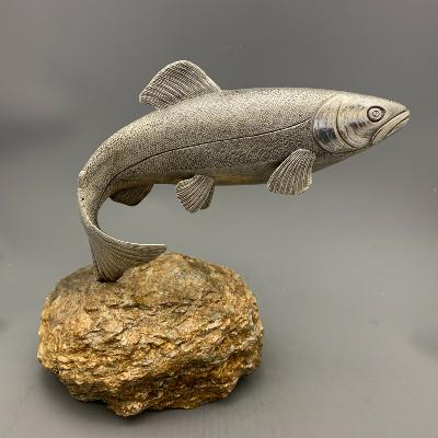 Silver LEAPING SALMON