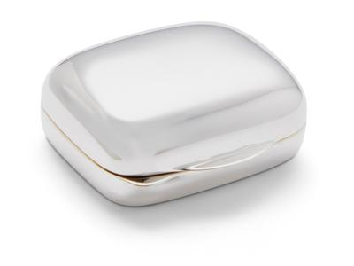 Silver 'Cushion Shaped' Pill Box