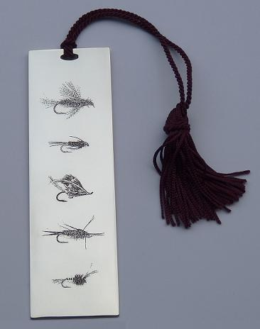 LEO SHIRLEY-SMITH Silver 'FISHING FLIES' BOOKMARK