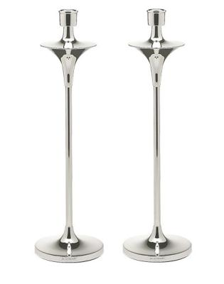 Pair Modern Design Silver Candlesticks