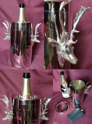 x Silver Stag Champagne / Wine Cooler