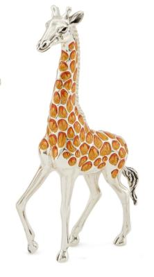 Silver and Enamel Giraffe
