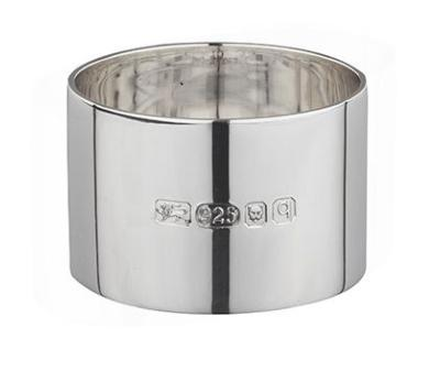 Silver NAPKIN RING - HEAVY