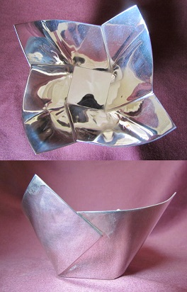 SALLY COX Silver 'Folded' Bowl