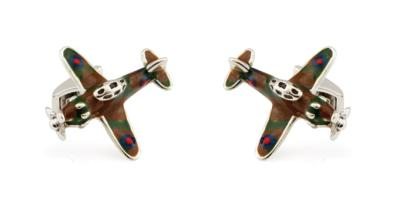 x Saturno Silver and Enamel SPITFIRE Cufflinks