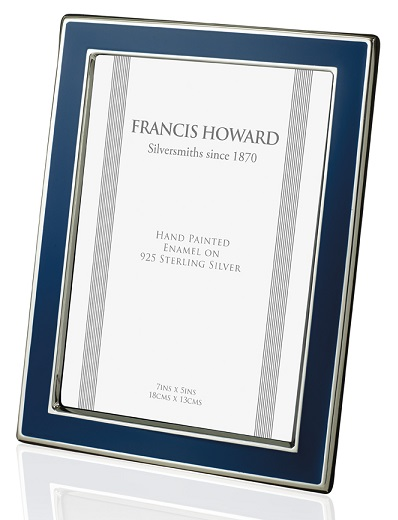 Silver and Blue Enamel Photograph Frame