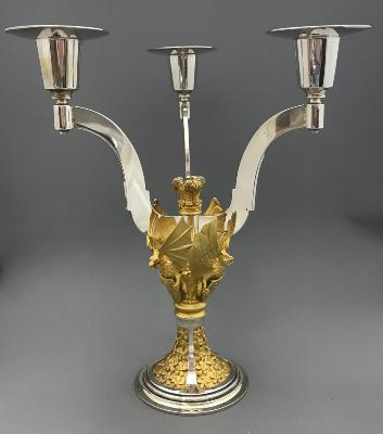 AURUM Silver 'ST PAUL'S CATHEDRAL ROYAL WEDDING' Candelabrum