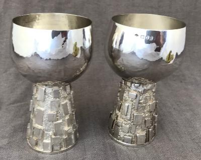 GRAHAM WATLING Pair Silver Goblets