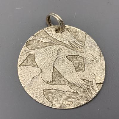 MALCOLM APPLEBY Silver GEESE PENDANT