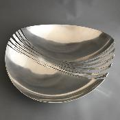 ANE CHRISTENSEN Large Silver 'DENTED' Bowl
