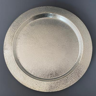 GRANT MACDONALD Round Silver Drinks Tray